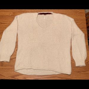 Cream Free People sweater